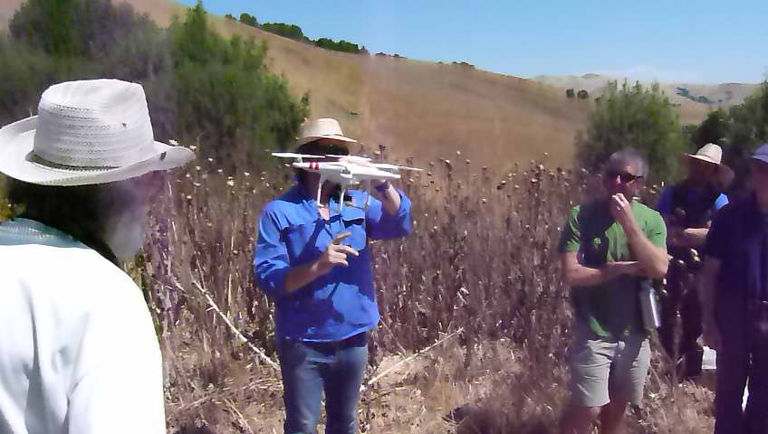 Using GoPro drone to view site