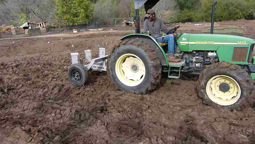 Key line sub-soil plow in action