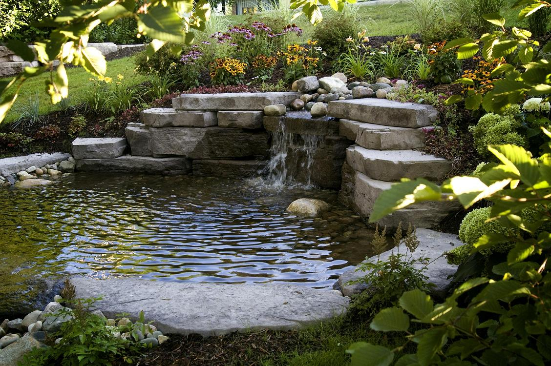 Image gallery water features for Water garden landscaping